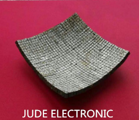Curved Piezoelectric Composite Material